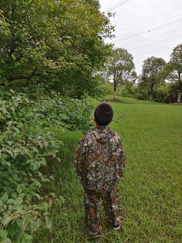 Children's new 3D leaf camouflage suit Geely suit Bird watching suit Shooting camouflage Hunting clothes and pants 6