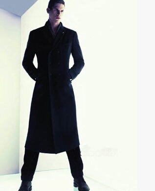 Extra Long Wool Coat Slim Fashion Classic Men And Comfortable ...