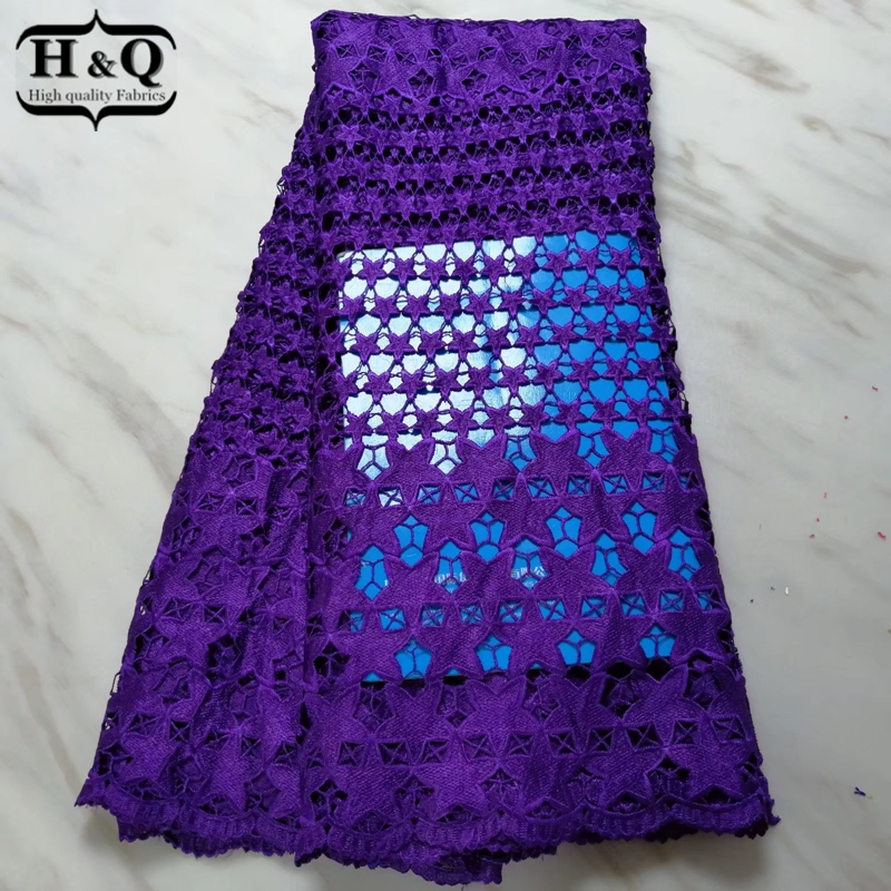 Purple color African water soluble lace fabric high quality Nigerian guipure lace African Cord lace for Nigerian Party 5 yardsPurple color African water soluble lace fabric high quality Nigerian guipure lace African Cord lace for Nigerian Party 5 yards