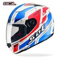 SOL Motorcycle Helmet Moto Casco Full Face Helmet For Motorcycle Motocross Capacete Vintago Hot Sale Racing Off Road Helmet DOT