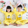 Newest 2016 Autumn And Winter Baby Boys Girl Clothes Cute Cartoon Long Sleeve Pijamas Kids Homewear Pajama Sets Kids Clothing