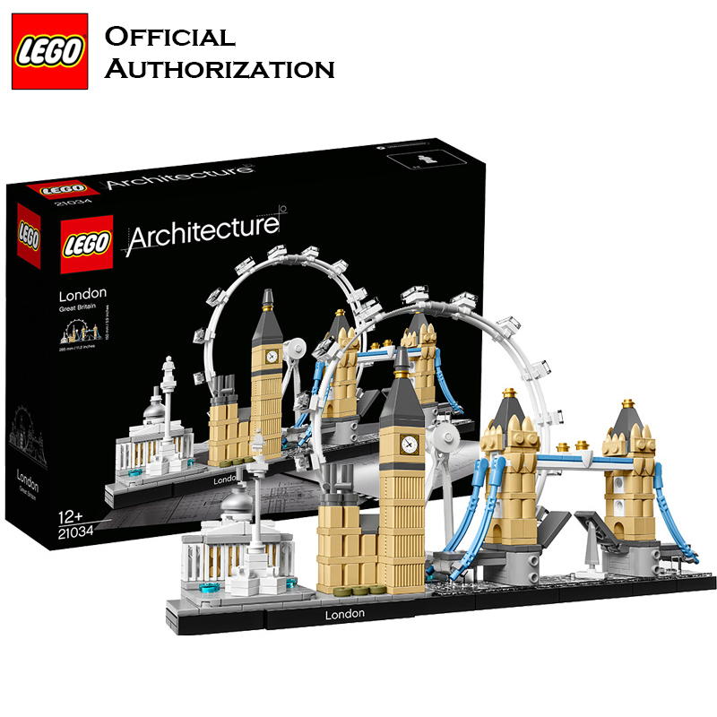 LEGO Architecture Series Building Blocks Toys 468pcs England London City Building Toys For Travel Box Gift Souvenir Brinquedos lego architecture series city building blocks toys paris louvre building toys a tourist souvenir for lego travel toys brinquedos