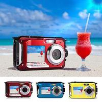 For Amkov AMKOV W599 Digital Camera Front And Rear Dual screen Life Waterproof Self timer Camera Pocket Mini Digital Camera