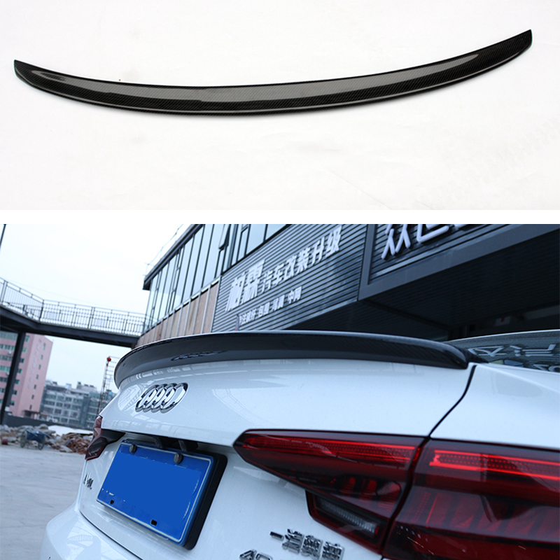 A4 B9 S4 Style Spoiler Carbon Fiber Spoiler Wing For Audi A4 B9 2016+ Fits 4 Doors Sedan Only Rear Trunk Back Part цены