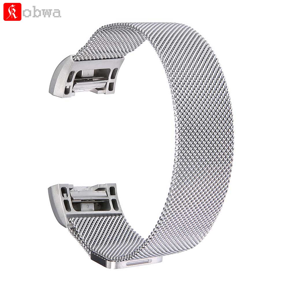 Watchband For Fitbit Charge 2 Band Milanese Loop Stainless Steel Replacement Accessories Magnetic Metal Silver Color Wrist Strap milanese loop watchband for fitbit charge 2 smart watch band stainless steel strap magnetic buckle wrist bracelet black silver