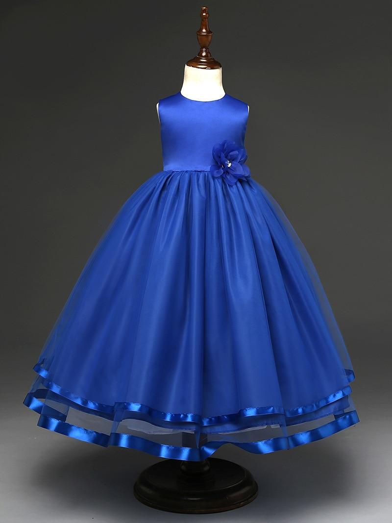 1e1ef2b74 Nueva Encaje niña niños hermosa Vestidos de fiesta chica formal partido  Pageant vestido largo princesa 6 unids lote en Vestidos de Mamá y bebé en  ...