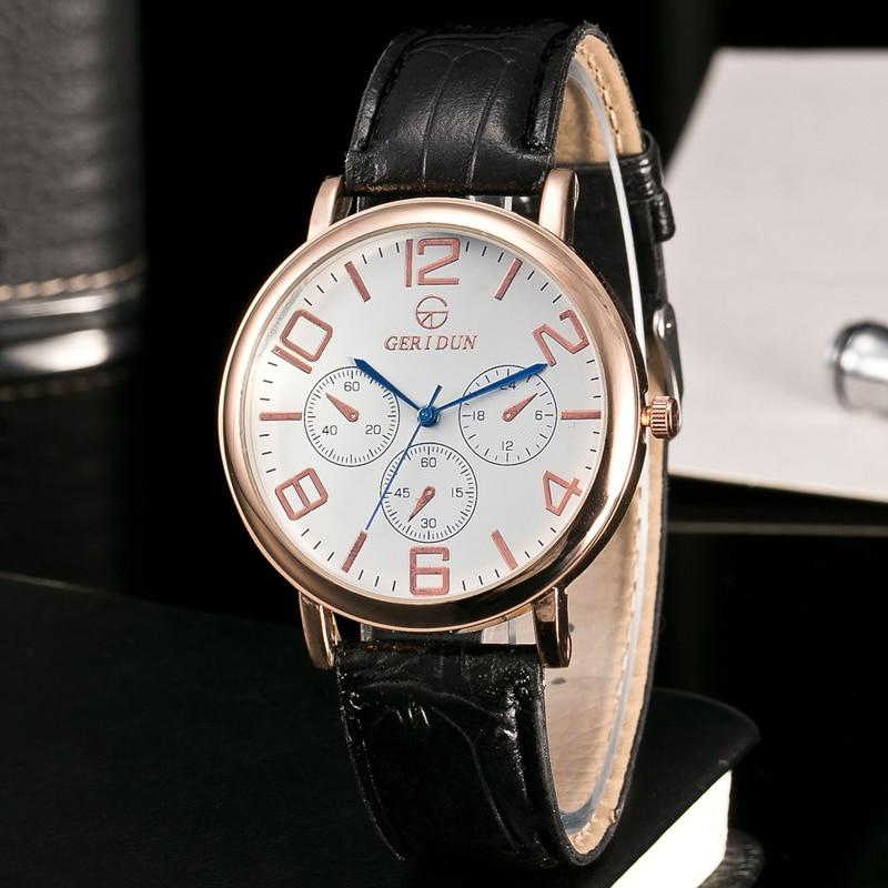 GERIDUN Reloj de los hombres de la marca de lujo famoso reloj de - Relojes para hombres - foto 5