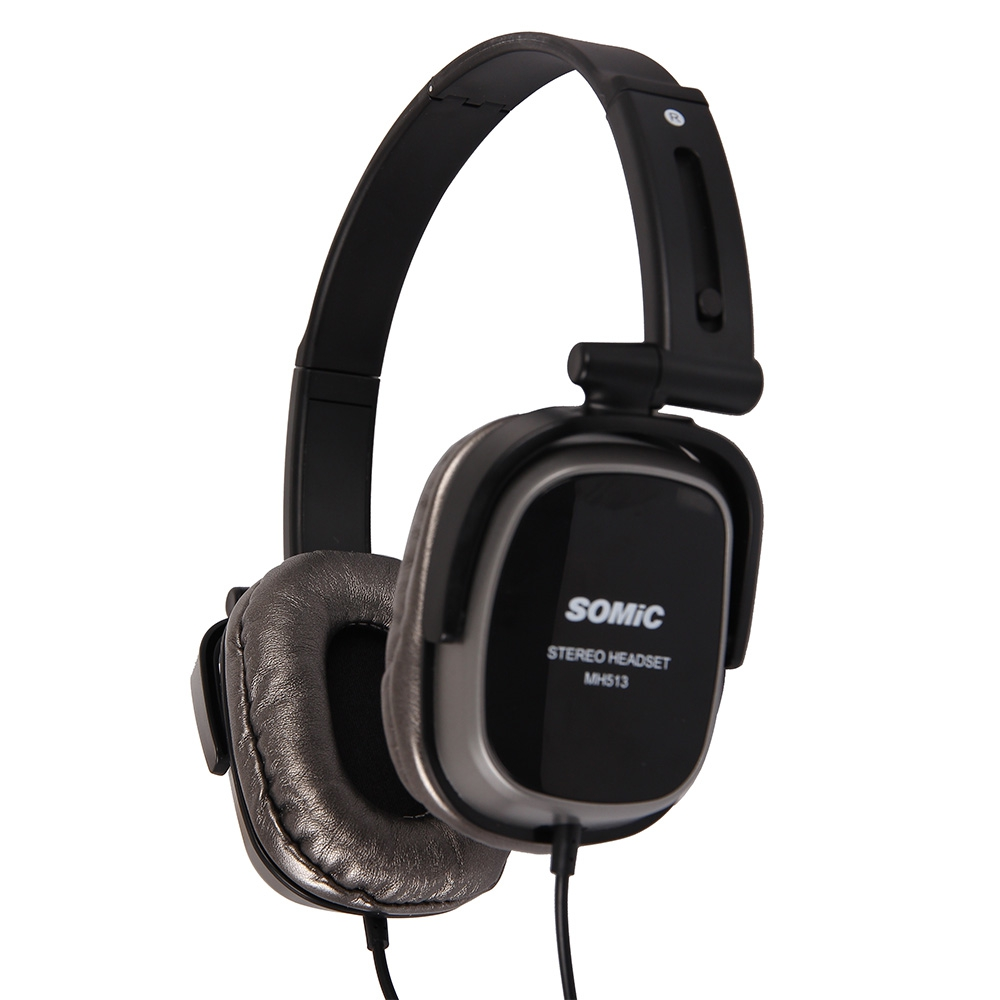 Original Somic MH513 3.5mm Jack Collapsible Headband Headset Wired Headphone With Microphone And Voice Control Function Earphone