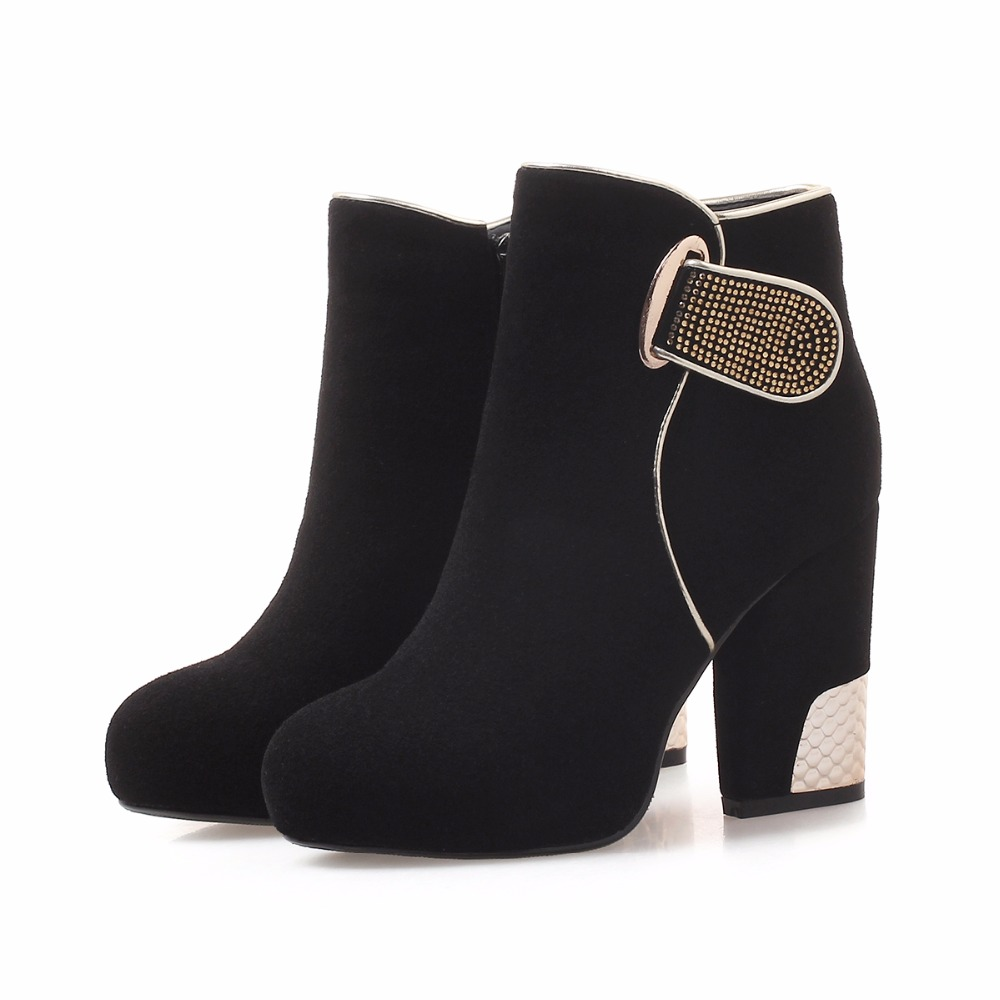 Bout Plate forme Chaussures 10 Talons Bottes Arden Rouge Cm Femmes Cheville Mode De Zipper Black Printemps D'hiver Haute Furtado Chunky 2018 Rond R0xgxwv7Y