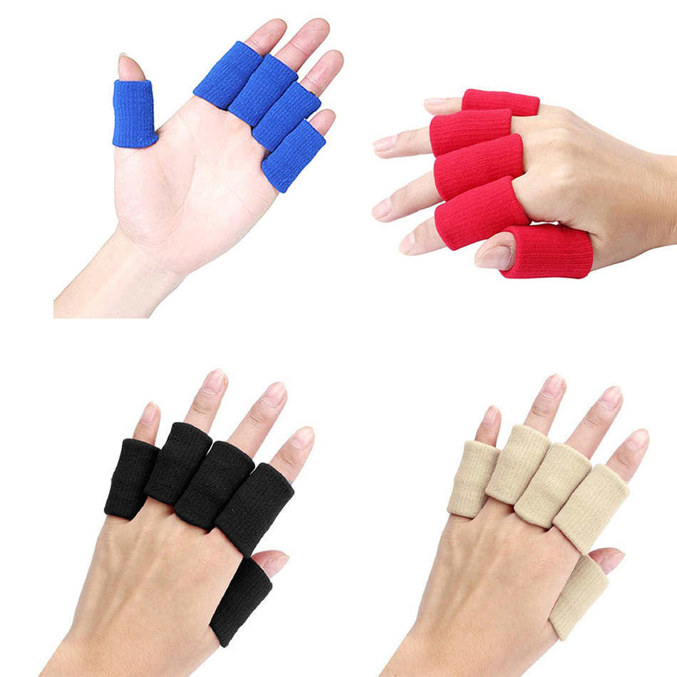 10pcs/set Sport Finger Splint Guard Bands Bandage Support Wrap Basketball Volleyball Football Fingerstall Sleeve Caps Protector