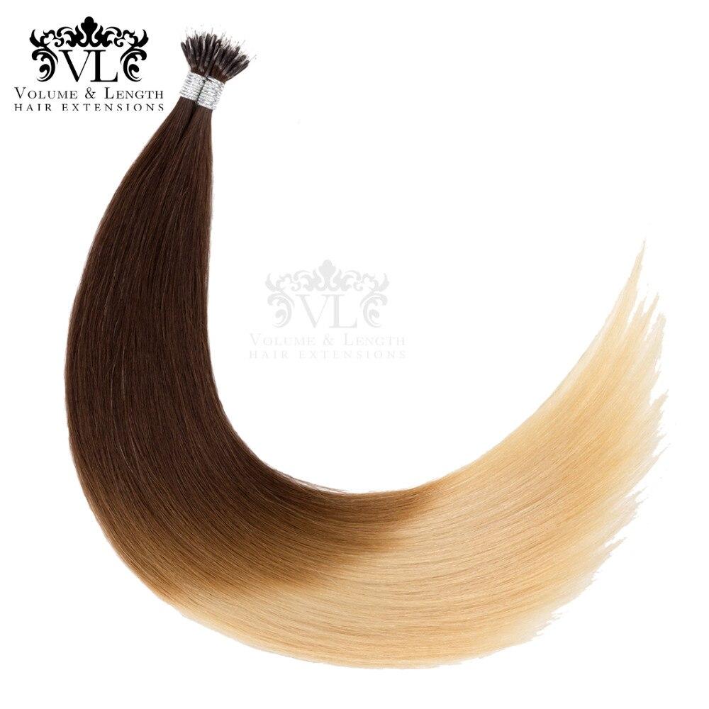 Haarverlängerung Und Perücken Erfinderisch Vor Verbundene Nano Spitze 100% Remy Haar Extensions 14 18 50 Gr/paket Gerade Haar Gradienten Braun Salon Schuss Freies-versand Vl13n18