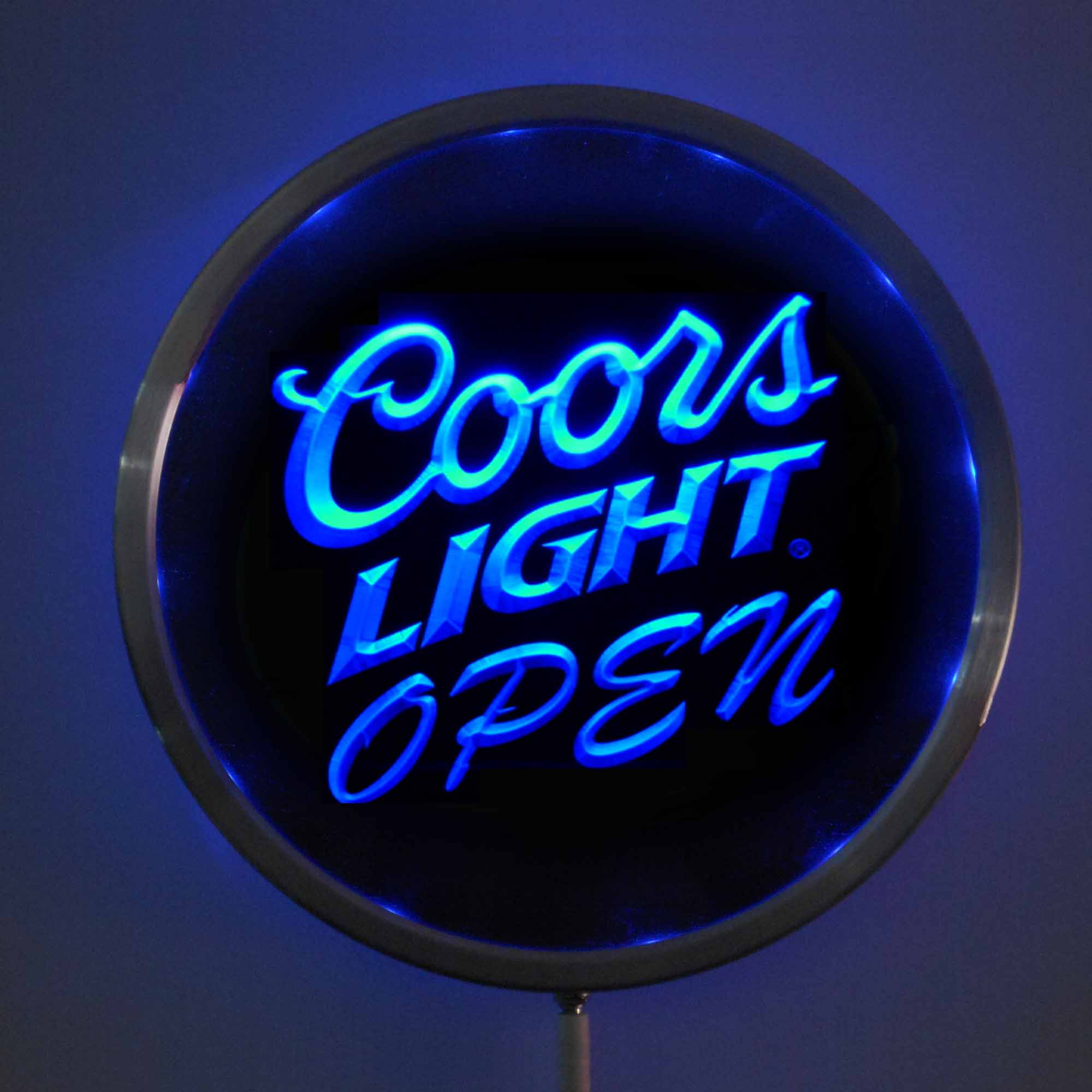 rs 0027 Coors Light OPEN LED Neon Round Signs 25cm/ 10