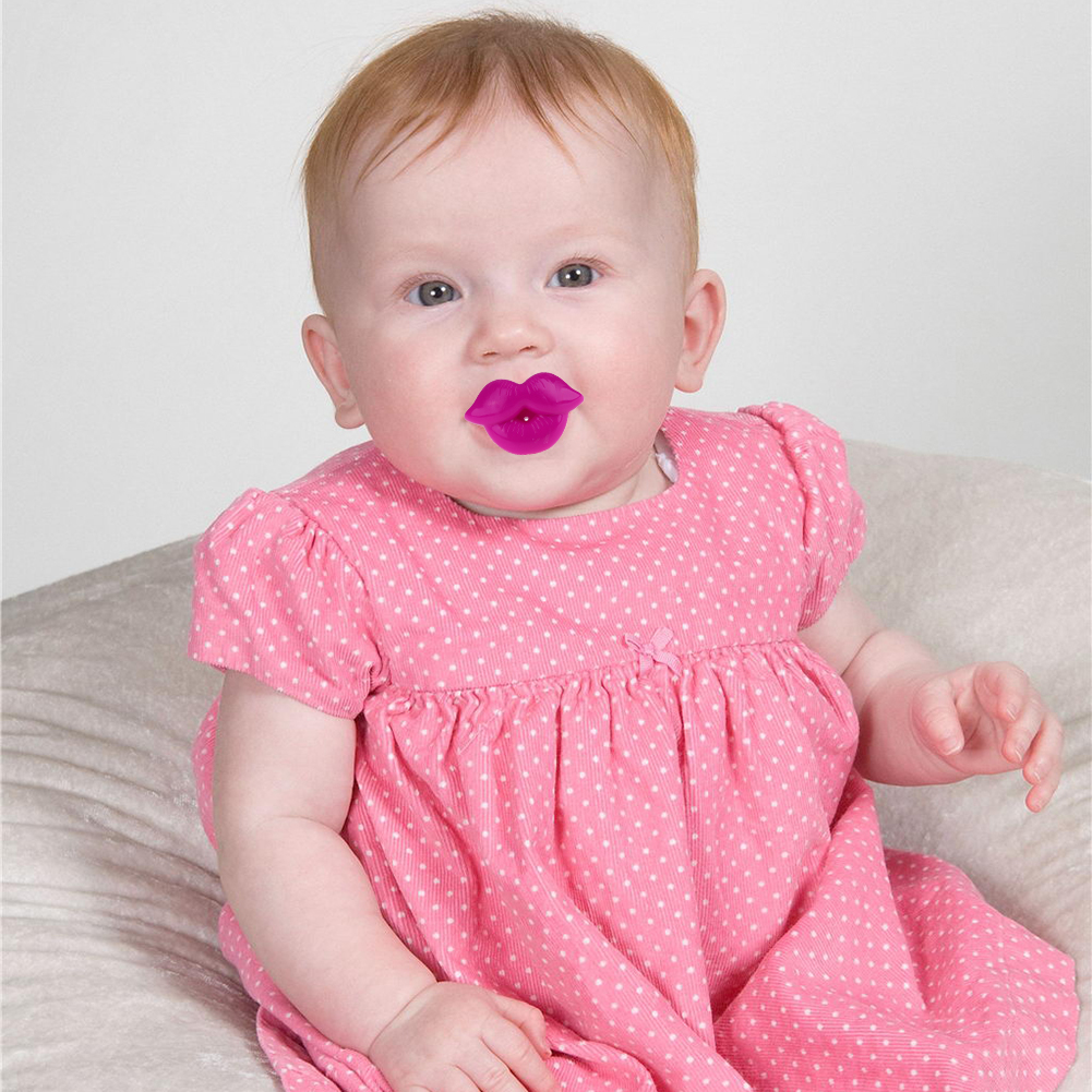 1Pc New Baby Pacifier Red Kiss Lips Dummy Pacifiers Funny Silicone Baby Nipples Teether Soothers Pacifier Baby Dental Care