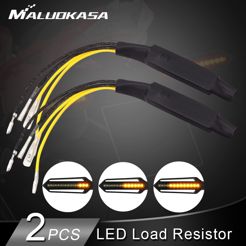 2PCS Motorcycle Flasher LED Turn Signal Indicator Resistor Adapter 12V Universal Motorcycle Blinker Adapter LED Load Resistor