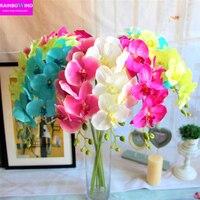6 pçs/lote Borboleta orquídea flor artificial simulação flores casamento casa decoração de mesa quarto acessório decoração de Alta qualidade