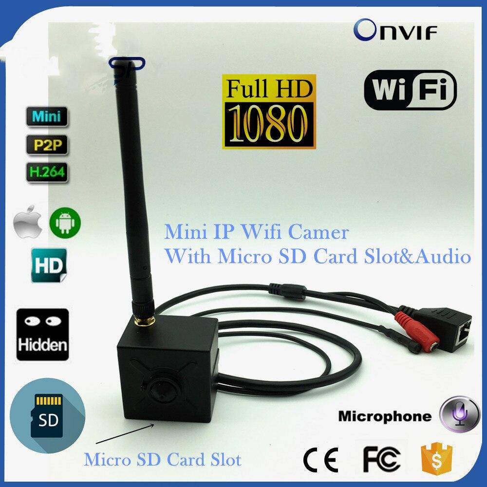 1080P Mini WiFi IP Camera Pinhole Audio With Micro TF SD Card Slot Wireless Network Wifi Camera Micro Surveillance IP Cam Wi-Fi ssk scrm 060 multi in one usb 2 0 card reader for sd ms micro sd tf white