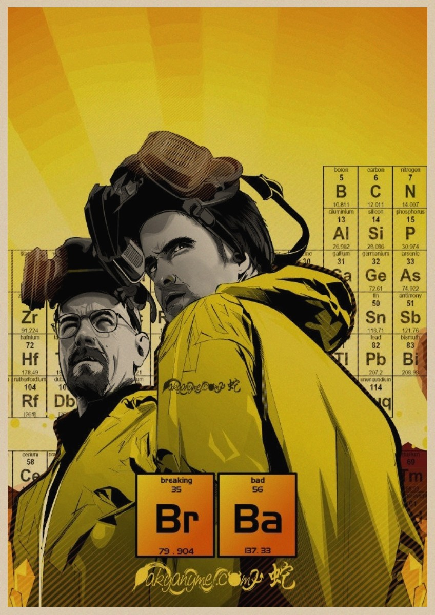 Image 3 - Breaking Bad movie retro Poster Vintage Kraft Paper Retro Posters Wall Sticker Bar Cafe Decoration Home Decor Gift A4-in Wall Stickers from Home & Garden