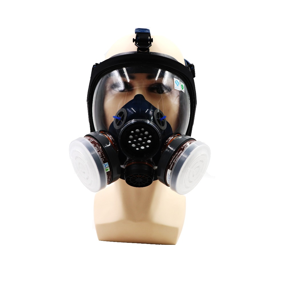 Organic Vapor Gas Mask Full Facepiece Carbon Respirators for Painting Pesticide Spraying Anti-fog Anti-wear Speak Clearly HeardOrganic Vapor Gas Mask Full Facepiece Carbon Respirators for Painting Pesticide Spraying Anti-fog Anti-wear Speak Clearly Heard