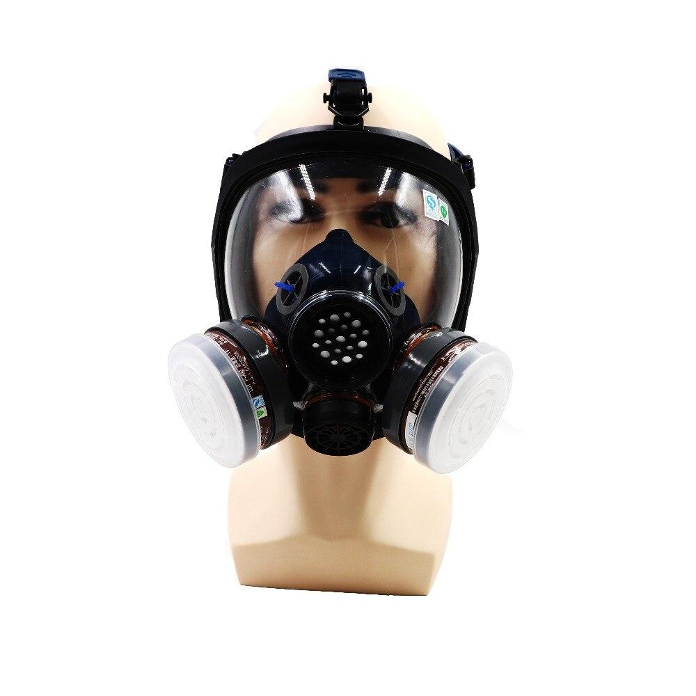 Respirateurs de carbone de masque de gaz de vapeur organique complet pour peindre le Pesticide pulvérisant l'anti-buée Anti-usure parlent clairement entendu
