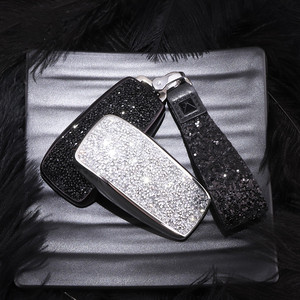 Image 3 - Artificial Crystal key case cover Key case protective shell holder for Mercedes Benz 2017 E Class W213 2018 S class Plastic Gift