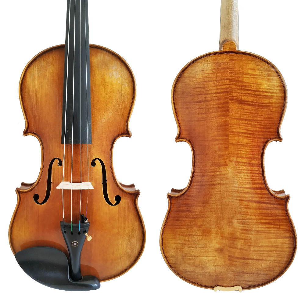Free Shipping Copy Antonio Stradivari Cremonese 1716 Model Violin with Canvas Case and Brazil Bow Rosin FPVN01 #2 free shipping copy stradivarius 1716 100