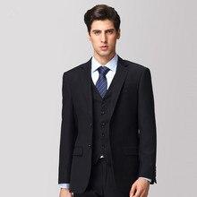 new Custom Made!men's wedding dress suit business casual groom Groomsmen suit male occupation Bridegroom(Jacket+Pants+Vest)