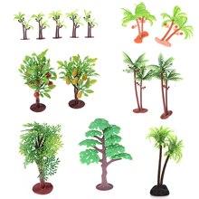 2 шт./лот Нетоксичный Искусственный аквариум кокосовые пальмы растения орнамент украшения для детских игрушек 6 см