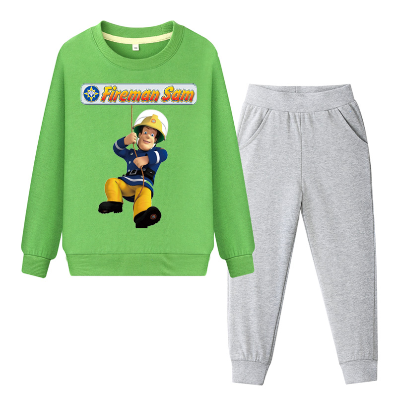 Clothing Sets 2019 Children Cotton Spring Clothing Sets For Boy Girls Fireman Sam Sweatshirt Pant Suit Baby Sport Clothes Tracksuit Kids Tz008 Back To Search Resultsmother & Kids