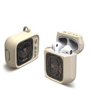 Image 1 - Auriculares Bluetooth inalámbricos estilo TV con carcasa para funda de Airpods, funda protectora completa de caucho blando de silicona para Airpods
