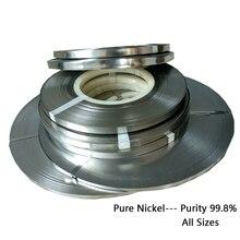 1,0 kg Hohe qualität Reine nichel 0,15*8mm reinheit 99.96% Batterie reinem nickel streifen zelle stecker batterie reiner nickel platte