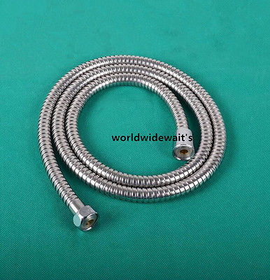 "1.5M or 2M 1/2""BSP Female Thread 304 Stainless Steel Shower Hose Bathroom Heater Water Head Pipe Anti-Explosion"