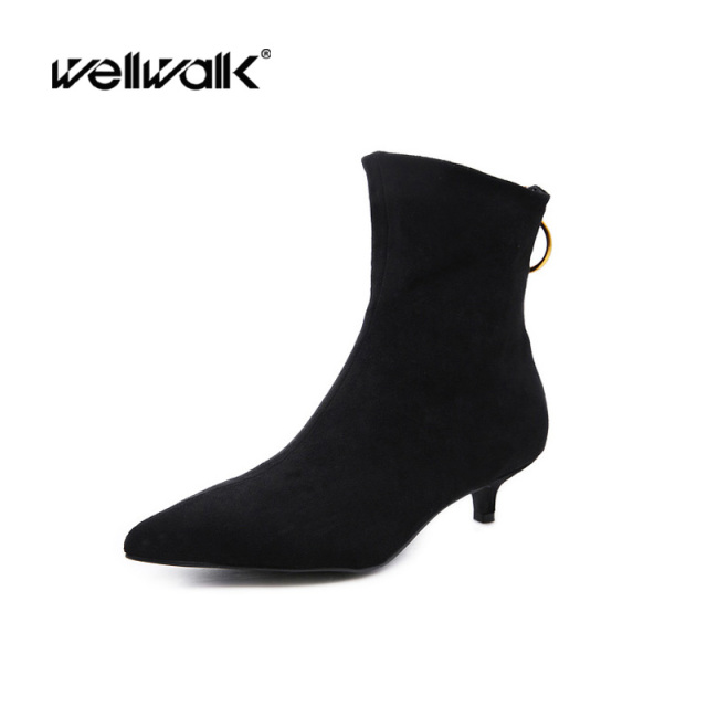 Fashion Dress Boots Women Pointed Toe Winter Shoes Ladies Ankle Boots Fenty  Beauty Western Chelsea Booties Autumn Gothic Shoes 95fcf622208d