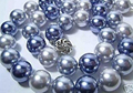 Природный Южного Моря Shell Жемчужное Ожерелье Мода Выделите AAA 10 ММ Шарик Синий Серый Красочные Ожерелья Подарок для женщин Ювелирные Изделия