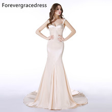 Forevergracedress Actual Photos Mermaid Evening Dress Spaghetti Straps Sleeveless Backless Long Formal Party Gown Plus Size