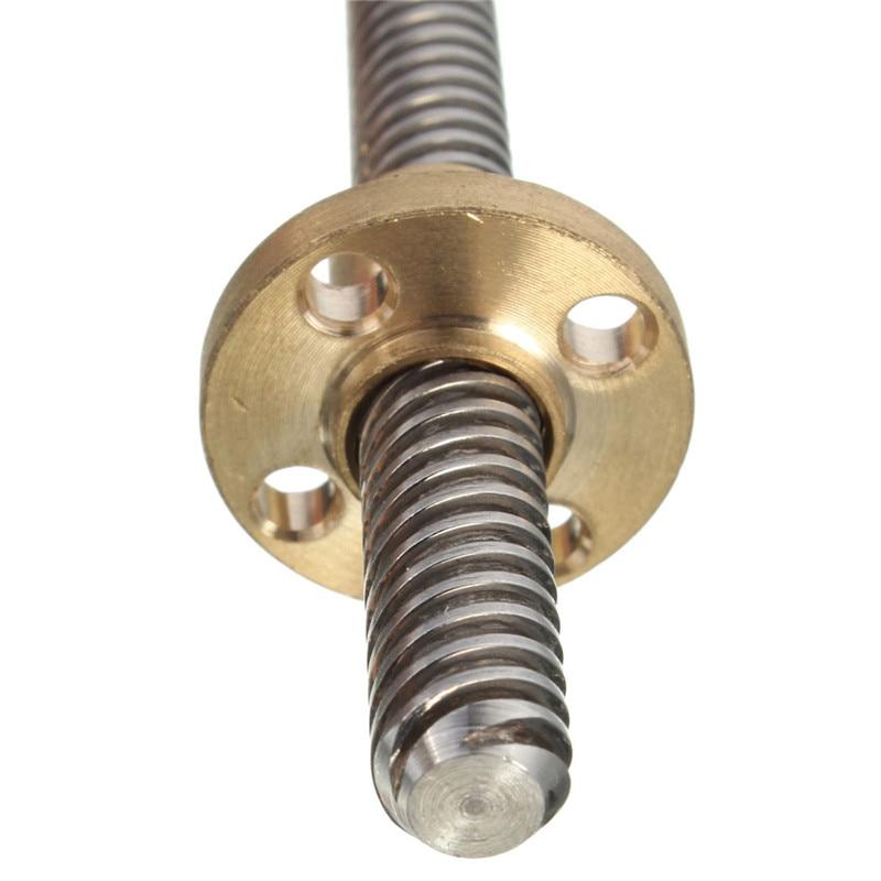 2017 1x Stainless Steel Lead Screw Copper Nut 8mm Lead Screw Rod 500mm -4 Start Z Axis 50cm Linear Rail Bar Shaft gtfs hot sale 3d printer 8mm lead screw rod z axis linear rail bar shaft 350mm golden