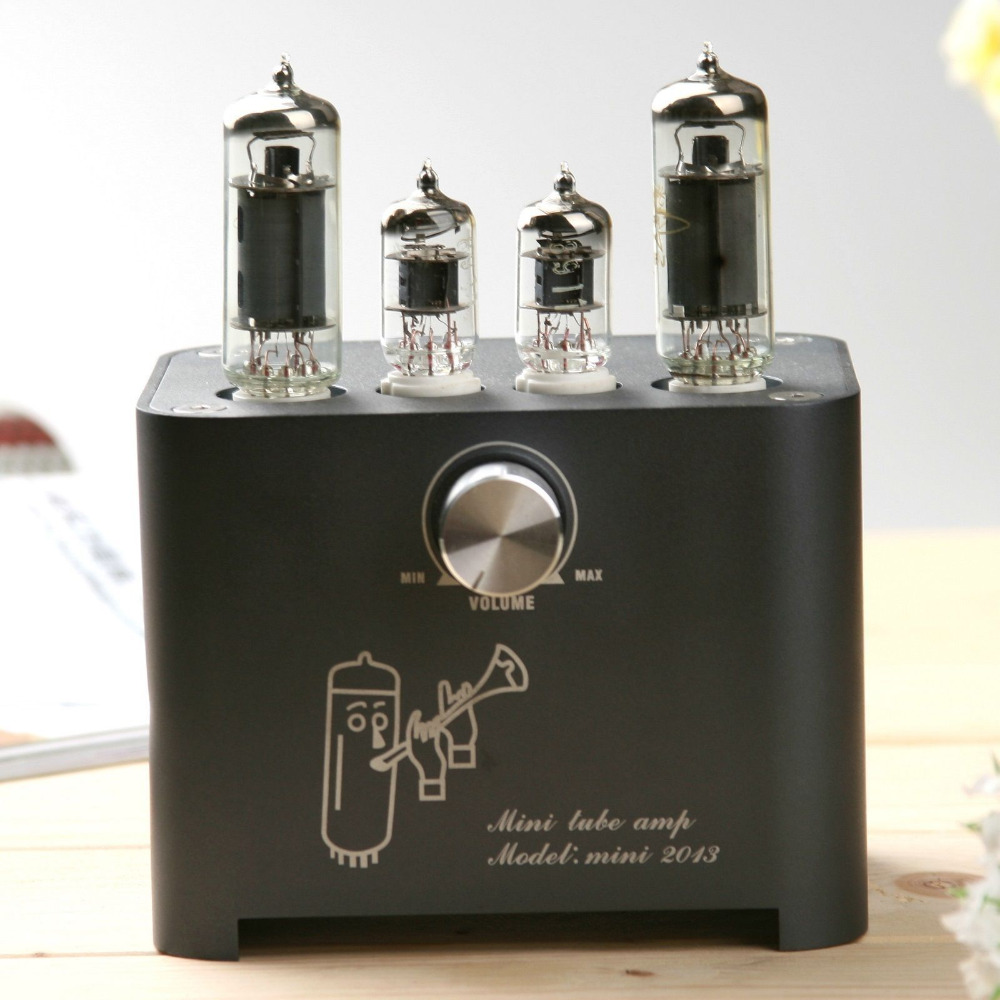 New APPJ Mini2013 HIFI Audio 6J1 6P1 Vacuum Tube AMP Integrated Power Amplifier Desktop 3W+3W ORIGINAL MINIWATT Black 1PC appj smart wifi 6j1 6p4 vacumm tube amplifier mini hifi stereo integrated desktop amp finished product