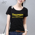 Girl Classic TRIUMPH MOTORCYCLE T Shirt Women Cotton Short Sleeve Good Quality T-shirt Top Tees New Summer