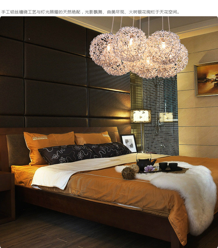 art hollow pendant lights modern simple restaurant lights bedroom lights aluminum line lights