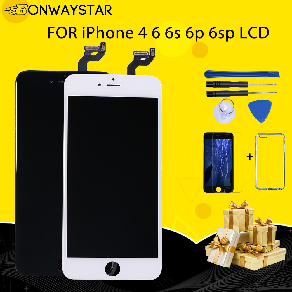 For AAA iPhone 6 6G 6P 6plus 6S 6SP LCD With 3D Force Touch Screen Digitizer Assembly Display Display Touch Screen With 3 gifts image
