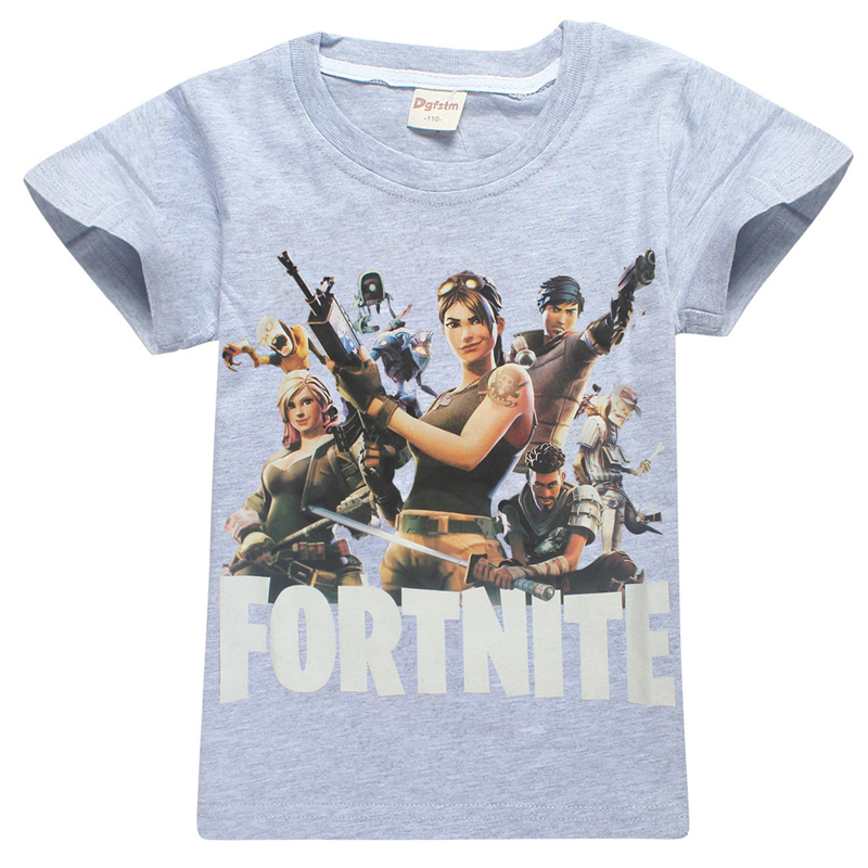 comfortable Summer T Shirts Fortnite Battle Royale Legend Gaming Pattern Tops Tees Girls Boys T-shirt Kids Clothes 6-14 Years