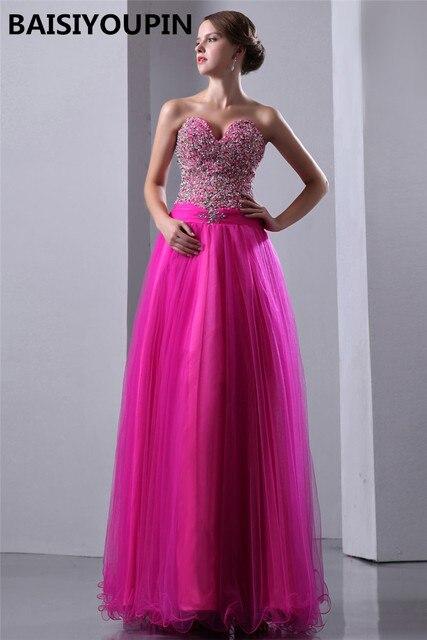 Formal Dresses Vestidos Longos Para Formatura 2017 Heavy Beaded Hot ...