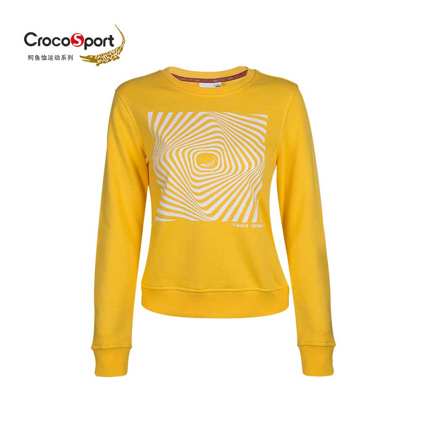 Crocodile Women Cartoon Network Pattern Exercise Sweaters Keep Warm Ventilation Autumn and Winter Pink and Yellow