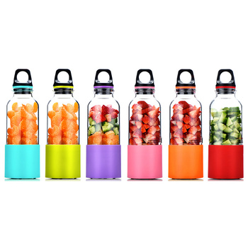 500ml portable usb rechargeable personal blender and electric vegetables and fruit juice maker