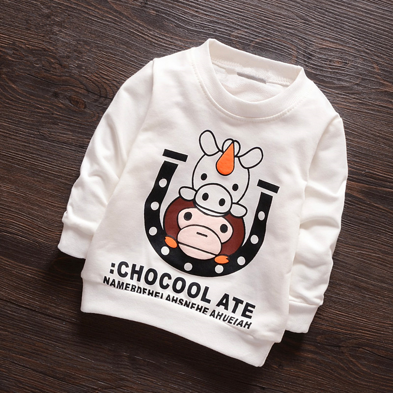 Anlencool 2017 Children clothes 2-5 years male baby bottoming clothing spring cotton baby boy long-sleeved sweater primer shirt