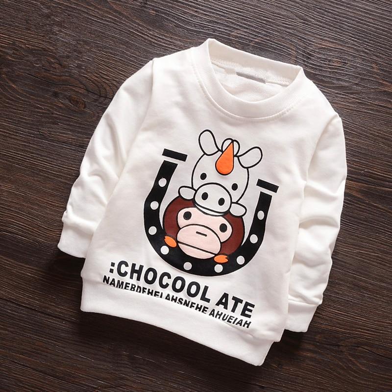 Anlencool 2018 बच्चों के कपड़े 2-5 साल के पुरुष बच्चे के कपड़े वसंत कपास बच्चे लड़का लंबे बाजू स्वेटर प्राइमर शर्ट