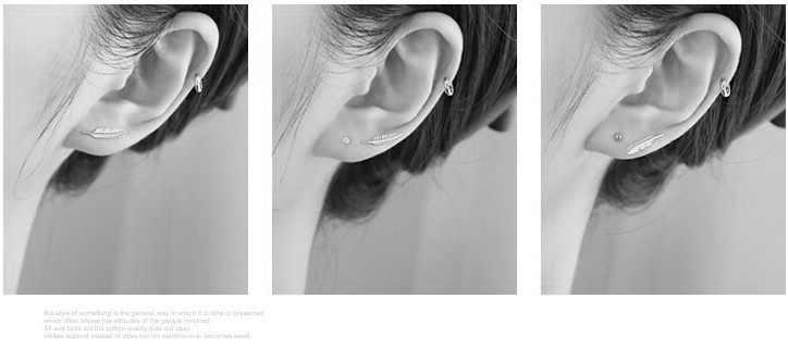 925 스털링 도금 작은 깃털 스터드 귀걸이 부족 여성 남성 간단한 우아한 패션 쥬얼리
