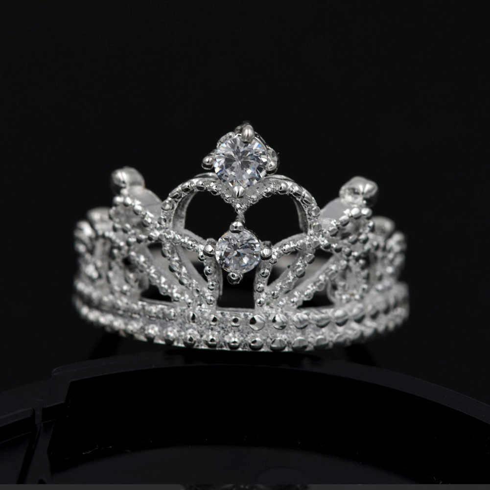 Giáng sinh phụ nữ đặc biệt hot mạ bạc Thái wedding trang sức dễ thương người phụ nữ lấp lánh pha lê vòng Vương Miện