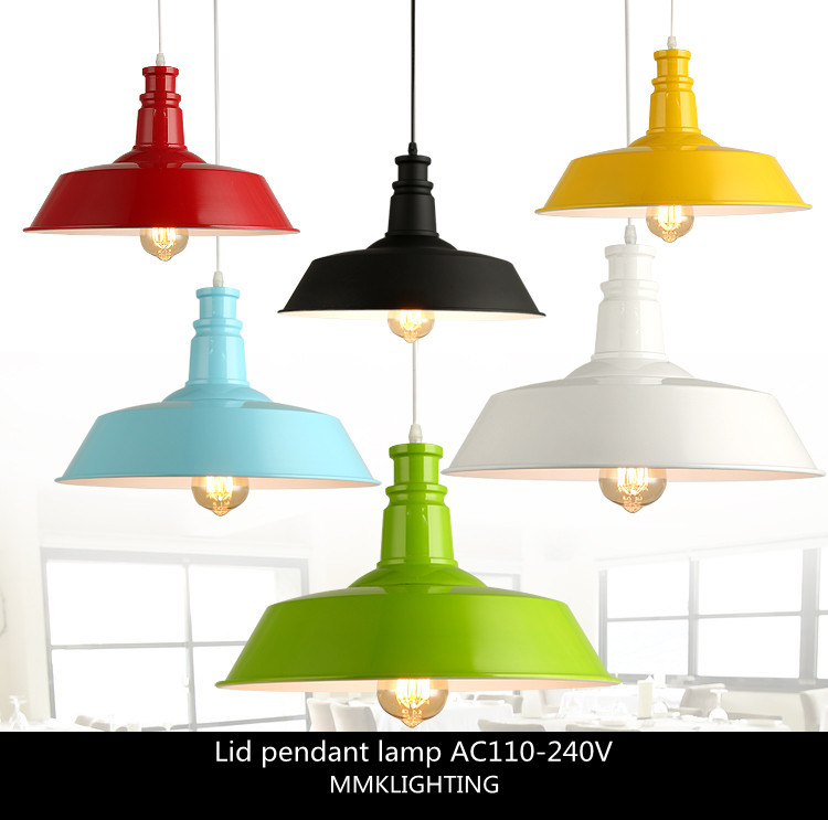 Nordic Industrial Retro Style Hanging Light Restaurant Bar Cafe Lamp Warehouse Creative Single-head Pendant Lamp,E27 26cm/36cm