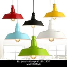 Lámpara colgante de estilo nórdico Industrial Retro Para restaurante, bar, cafetería, lámpara colgante creativa de un solo cabezal, E27 26 cm/36 cm