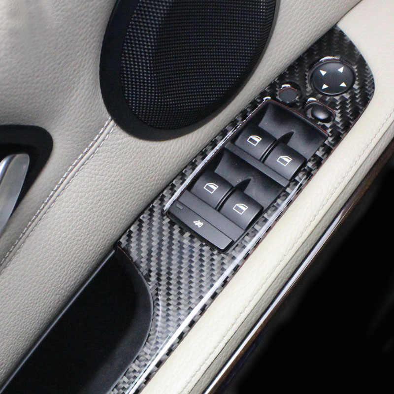 Carbon Fiber Center Console CD AC Panel Cover Trim For BMW 3 Series E90 E92 E93